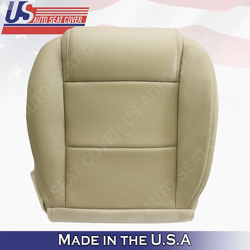 2005-2009 Ford Mustang Coupe V6 Driver bottom leather seat cover Tan
