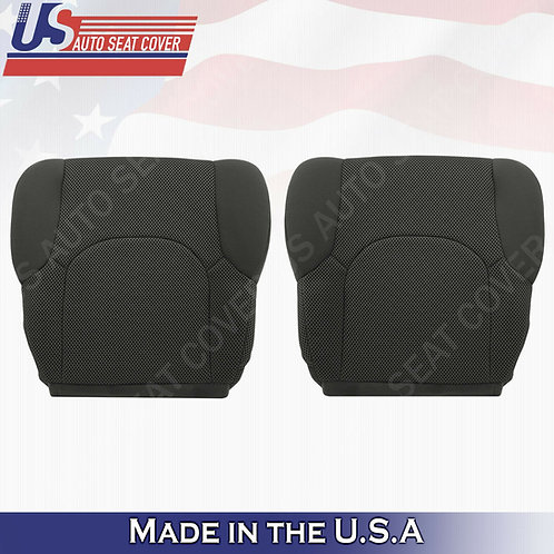2005 -2019 Front Bottoms Black Cloth Seat Covers FITS: Nissan Frontier S, SV, XE