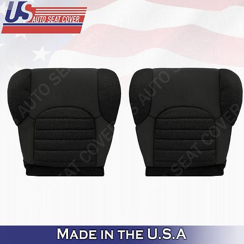2007-2015 Nissan Pathfinder Driver & Passenger Bottom Cloth Dark Gray Seat Cover