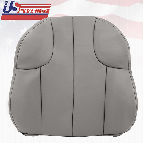 1999 - 2001 Jeep Grand Cherokee Driver  Top Leather Seat Cover Gray
