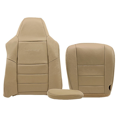 2002-2007 FORD F-250 LARIAT DRIVER SIDE TOP, BOTTOM & ARMREST IN TAN LEATHER
