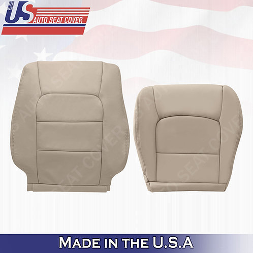 For 1998-2007 Lexus LX470 Driver Bottom & Top Leather Cover TAN