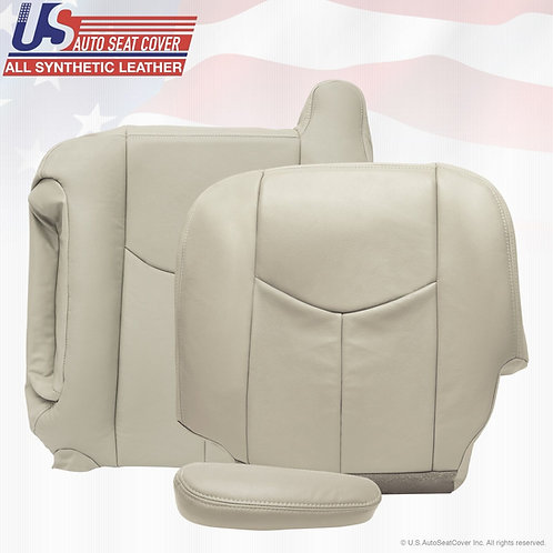 2003-2006 Chevy Top, Bottom, Armrest Leather Upholstery Cover Shale tan