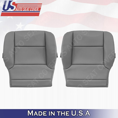 2014-2019 Chevy Silverado WT HD-Driver -Passenger Bottom vinyl Seat Cover Gray
