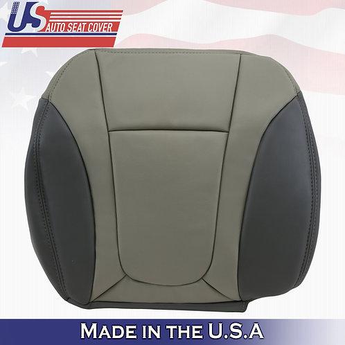 2002 to 2004 Chevy Trailblazer - Passenger Bottom Leather Seat Cover 2-Tone Gray