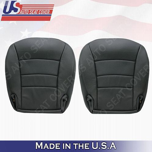 2005 TO 2013 Chevy Corvette Driver & Passenger Bottom Perf. Leather Cover Black