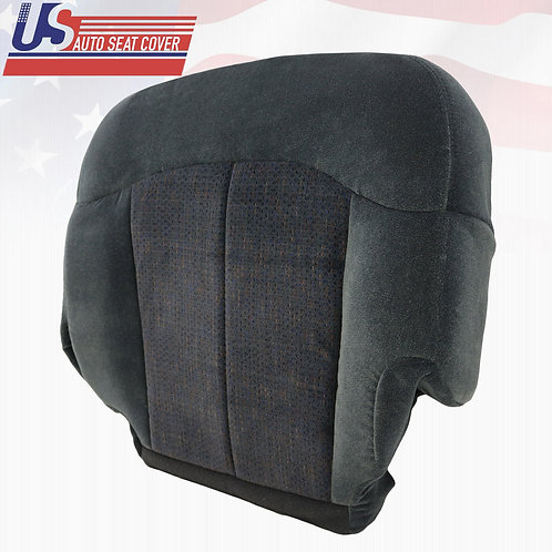 1999-2002 Chevy Silverado Passenger Bottom Cloth Seat Cover in 2-Tone Dark Gray
