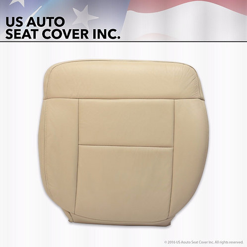 2004 Ford F-150 Driver bottom VINYL seat cover in Light Parchment Tan
