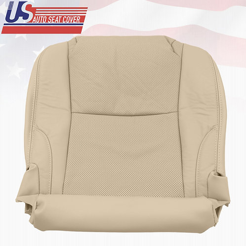 2006-2013 Lexus IS250 IS350 Driver Bottom Seat Cover Perforated Leather (Tan)