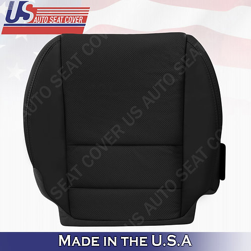 Passenger Bottom Perforated Leather seat cover Black for 2007-2012 Acura MDX