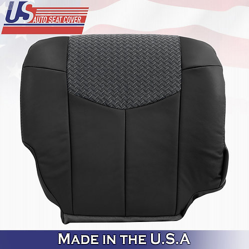2002 Chevy Avalanche 1500 2500 Passenger Bottom Leather w/Cloth BLACK seat cover