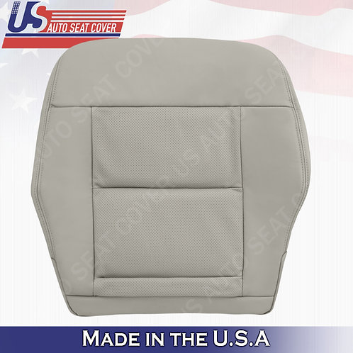 FIT 2010- 2014 Mercedes Benz E350 Passenger Bottom Perforated Leather Cover Gray