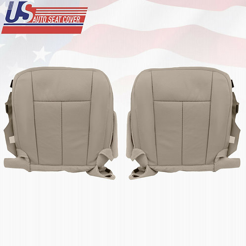2007 - 2014 Ford Expedition Bottoms Perforated Leather Seat Cover Gray