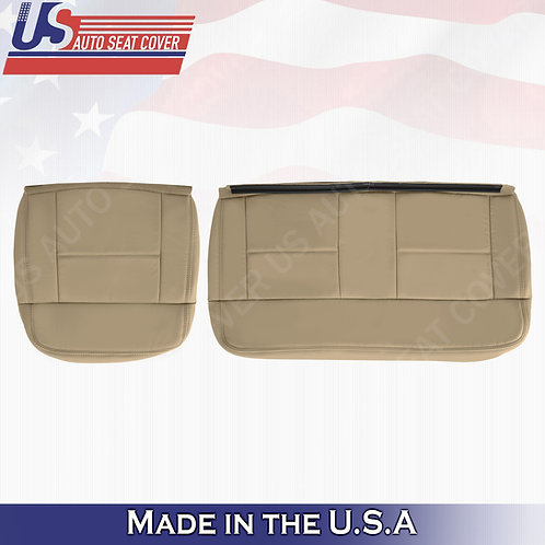 2004-2007 Ford F150 Lariat REAR Driver Passenger Bottom Leather Tan Cover