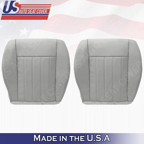 2005 2006 2007 Jeep Liberty Drive Passenger Bottom Leather Seat Cover Light Gray