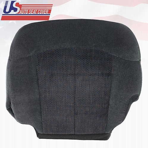 1999-2002 Chevy Tahoe Driver Bottom Cloth Seat Cover in 2-Tone Dark Gray
