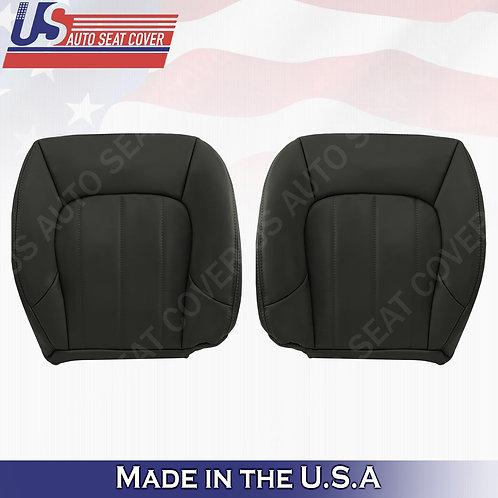 2002-2009 GMC Envoy SLT Driver & Passenger Bottom Leather Seat Cover Dark Gray