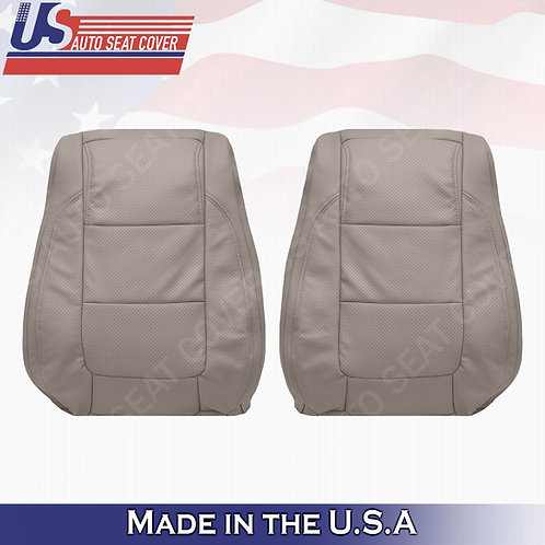 2011 - 2015 Ford Explorer DRIVER- PASSENGER TOPS leather Perf. Seat Cover Stone