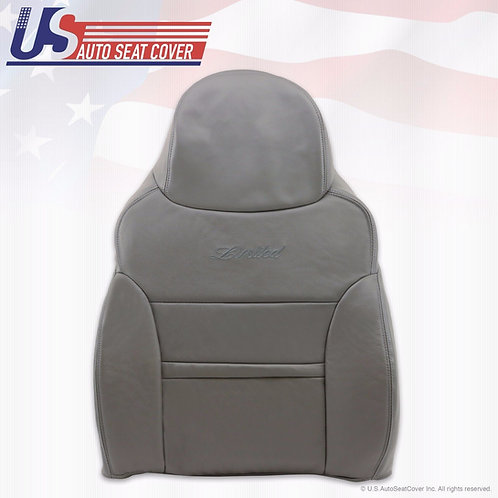 2000 2001 Ford Excursion Limited Front Driver Lean Back Leather Seat Cover Gray