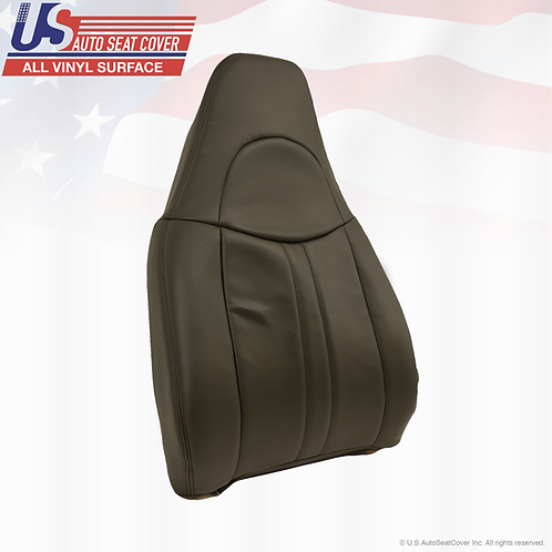 203 to 2006 Chevy Express 1500 2500 Van Driver Top Dark Gray Leather Seat Cover
