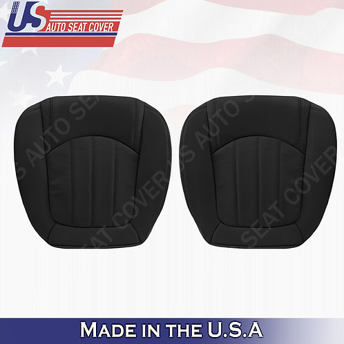 2008-2012 Buick Enclave 1XL Front Bottoms Perforated Leather Seat Cover Black