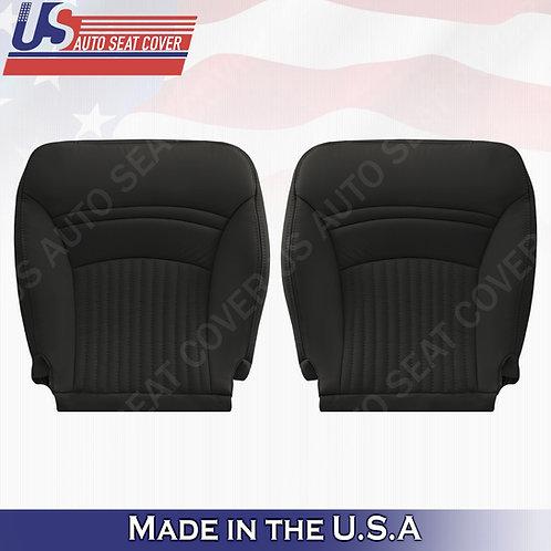 1997-2004 Chevorlet Corvette Driver Passenger Bottom Leather Seat Cover Black