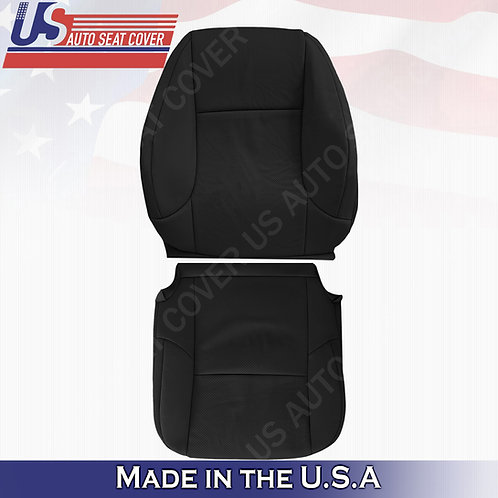 For 2010-2017 Lexus GX470 Passenger Top/Bottom Perforated Leather Cover Black