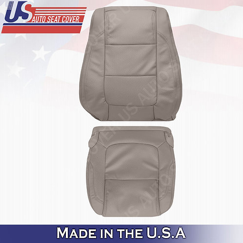 2011 - 2015 Ford Explorer DRIVER Bottom- Top leather Perf. Cover Stone