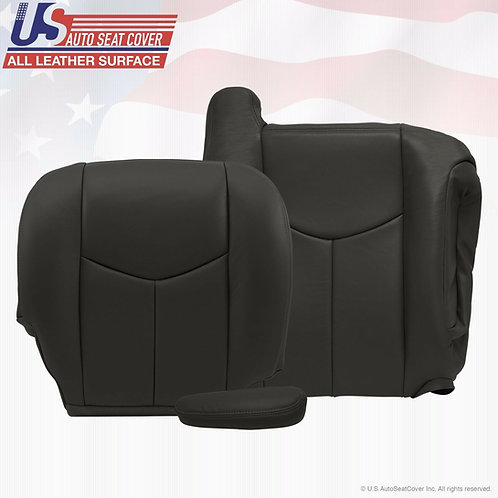2003 TO 2006 Chevy Silverado Passenger Bottom Top-Armrest Leather Cover Drk Gray