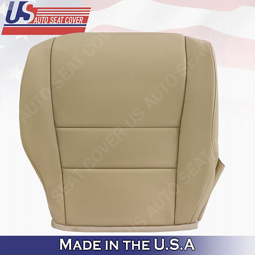 For 2007-2011 Honda CR-V Passenger Bottom Leather Seat Cover Tan