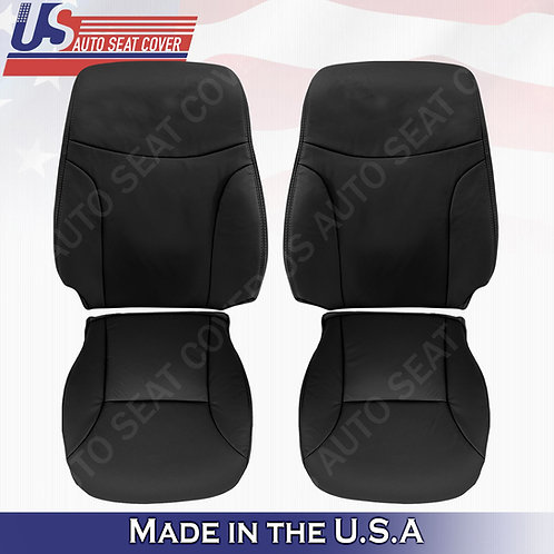 For 2002 to 2006 Lexus ES300 ES350 Front Set Top & Bottom Leather Cover Black