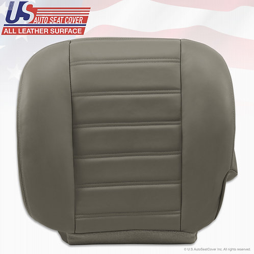 2003-2007 Hummer H2 Driver Bottom Leather Seat Cover Wheat Gray
