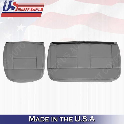 2004-2007 Ford F150 Lariat REAR Driver Passenger Bottom Leather Gray Covers