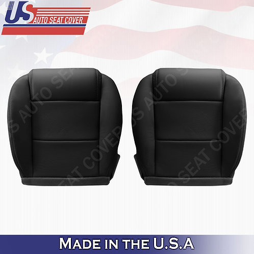 2005-2009 Ford Mustang Coupe V6 Driver -Passenger bottom leather seat cover Blck