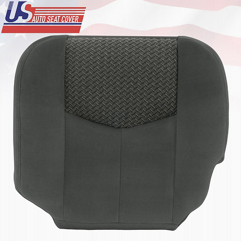 2003 2004 Chevy Avalanche Driver Bottom Cloth Seat Cover Dark Gray