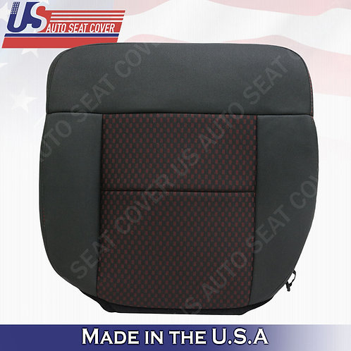2007 2008 Ford F150 FX2 FX4 Driver Bottom Cloth Seat Cover Black -Red