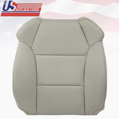 2007-2012 Acura MDX Driver Top Replacement Genuine Leather Seat Cover Gray