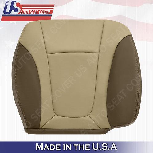 2002-2004 Chevy Trailblazer Passenger Bottom Leather Cover 2-TONE Tan