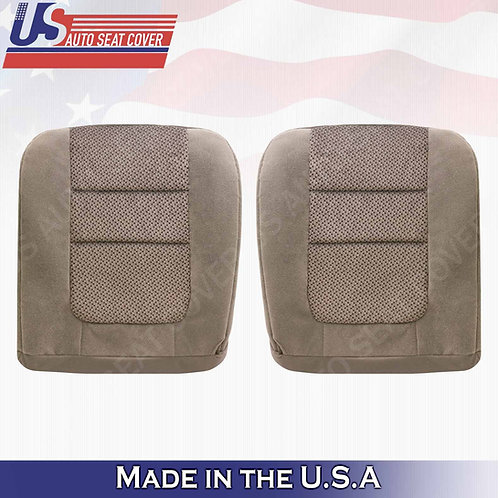 2001 Ford F-250 XLT DRIVER & PASSENGER Bottom Cloth Seat Cover Tan