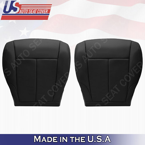 For 2007-2012 Nissan Altima Passenger bottom leather seat cover Black