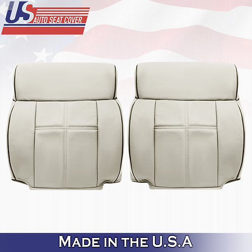 2006-2008 Lincoln Mark LT Driver & Passenger Top Leather Seat Cover Light Tan