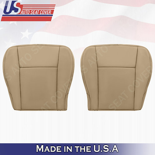 2003-2007 Cadillac CTS Driver & Passenger Bottom Leather Seat Cover Tan
