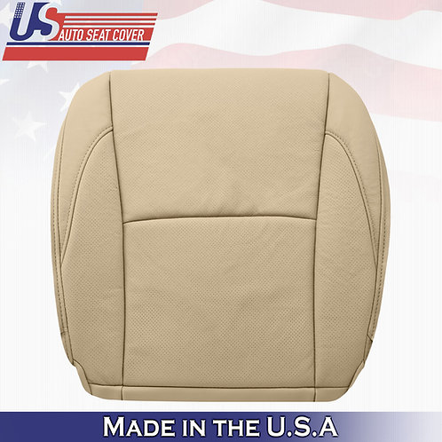 For 2007-2012 Lexus ES350 Driver Bottom Perforated Leather Seat Cover Tan