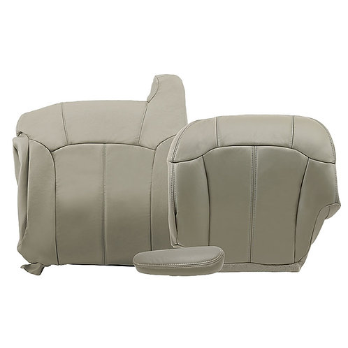 1999-2002 Chevy Tahoe Suburban Drier Top Bottom Armrest leather seat cover Gray