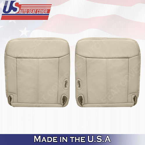 2003 - 2011 Lincoln Town Car Driver Passenger Bottom Leather seat cover TAN