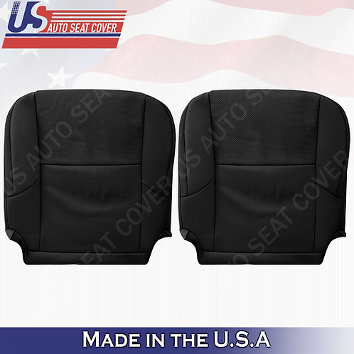 Fits 2010 - 2017 Lexus GX460 FRONT BOTTOMS Perforated Leather Seat Cover BLK
