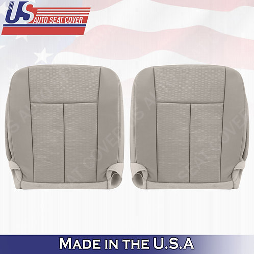 2007 - 2014 Ford Expedition DRIVER & PASSENGER Bottom Cloth Seat Cover In Gray