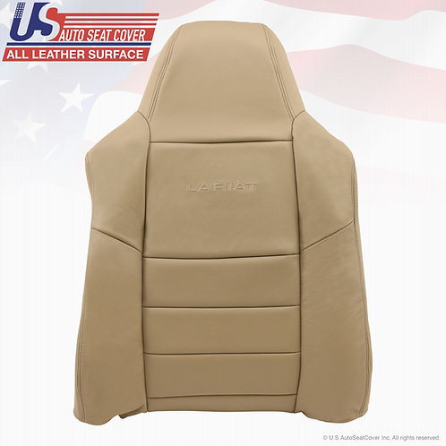2002-07 Ford F250 F-350 Driver Top Lean Back Replacement Leather Seat Cover Tan