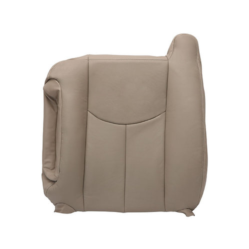 2003-2006 Chevy GMC TRUCK Driver Top LeanBack Seat Cover Leather Neutral Tan
