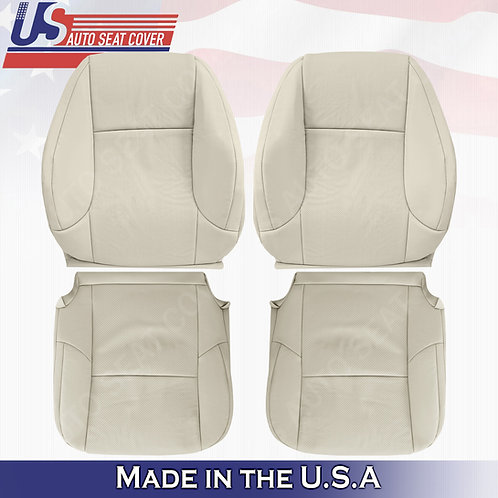 For 2010-2017 Lexus GX460 Front Tops & Bottoms Perf. Leather Cover Light Tan